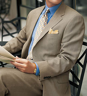 Pink shirt, brown pants...what color tie? | Styleforum